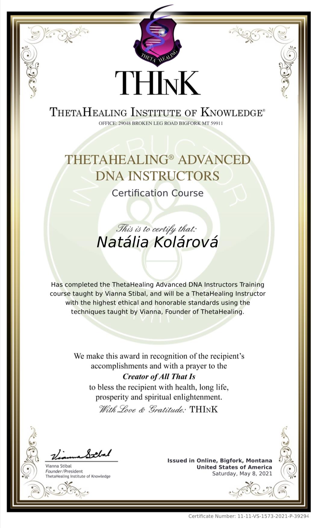 Inštruktorský kurz Thetahealing